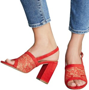 Anthropologie Red Mules