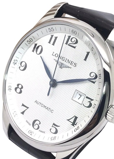 Preload https://img-static.tradesy.com/item/24327367/longines-silver-master-collection-swiss-men-s-leather-band-watch-0-3-540-540.jpg