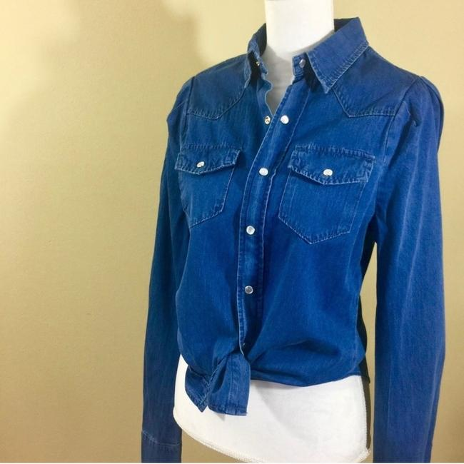 Torn by Ronny Kobo Button Down Shirt Blue