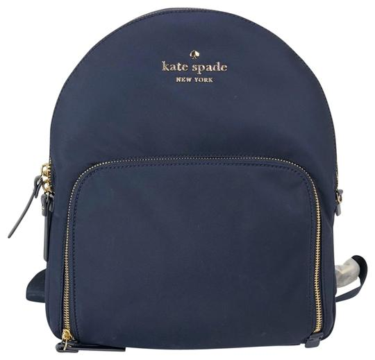 Preload https://img-static.tradesy.com/item/24327444/kate-spade-new-blue-shell-nylon-cow-leather-lining-polyester-backpack-0-3-540-540.jpg