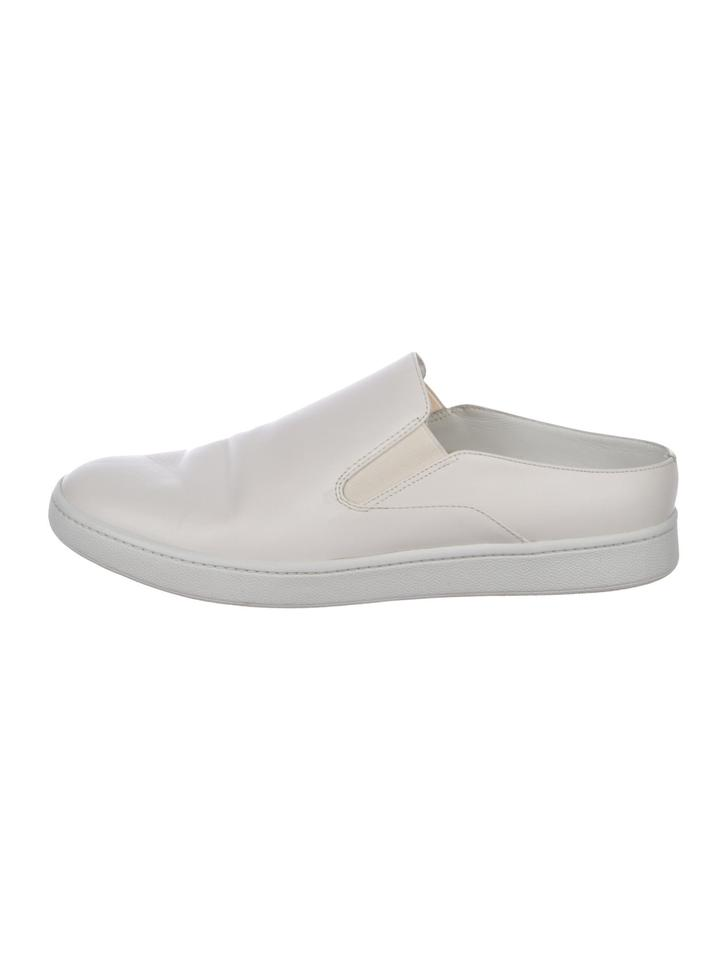 best place competitive price latest fashion Vince White Leather Verrell Slip-on Mules Sneakers Size US 8 Regular (M, B)
