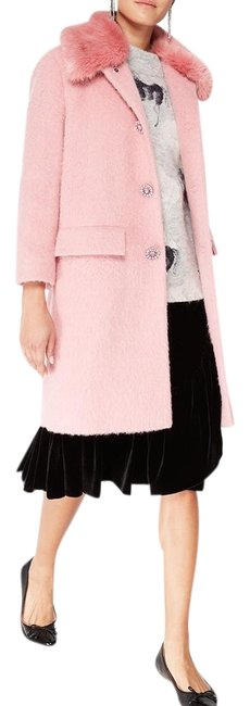 Item - Pink Tulip Jewel Buttons Wool Faux Trim New 2018 Coat Size 6 (S)
