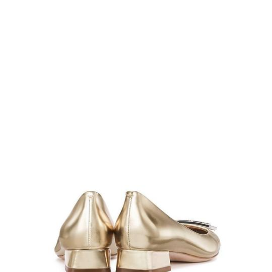 Tory Burch Holiday Formal Gold Pumps