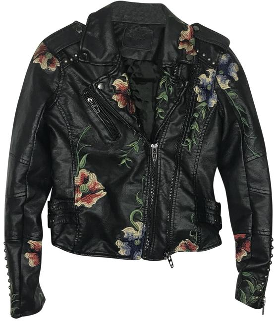 Preload https://img-static.tradesy.com/item/24327602/blanknyc-multi-color-floral-embroidered-vegan-leather-moto-jacket-size-0-xs-0-3-650-650.jpg