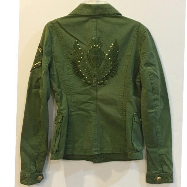 Kitson Studded Bling Crystal Military Jacket