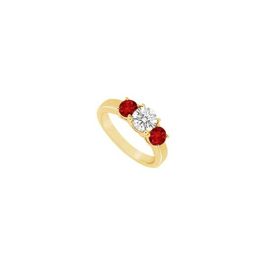 Preload https://img-static.tradesy.com/item/24327608/red-three-stone-created-ruby-and-cubic-zirconia-14k-yellow-gold-075-ring-0-0-540-540.jpg