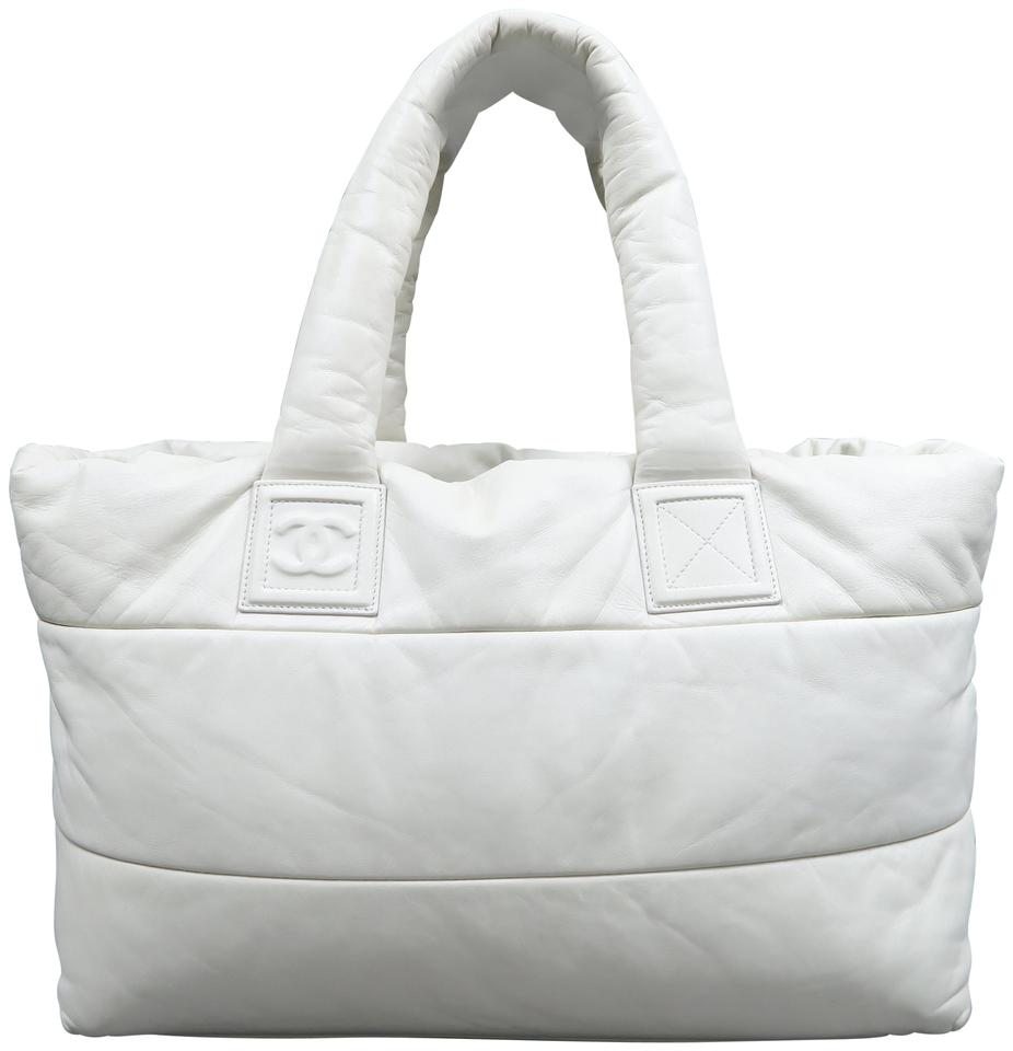9be33211c156 Chanel Cocoon Large Coco Reversible Ivory Lambskin Leather Tote ...