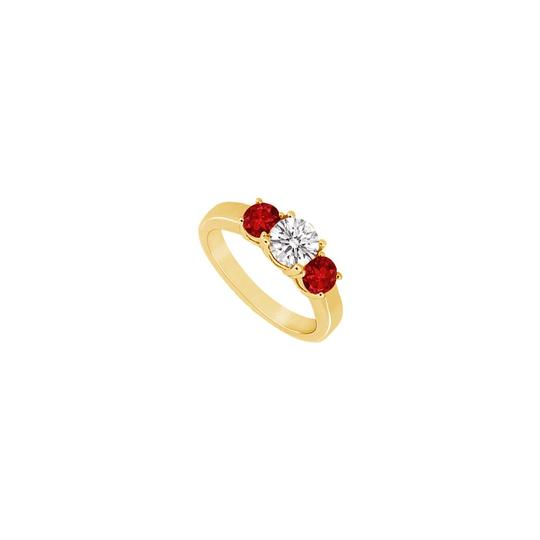 Preload https://img-static.tradesy.com/item/24327659/red-three-stone-created-ruby-and-cubic-zirconia-14k-yellow-gold-050-ring-0-0-540-540.jpg