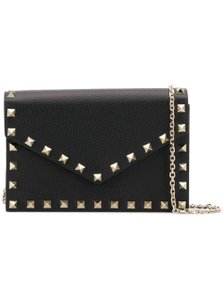 Valentino Rockstud Envelope Chain Wallet Rockstud Chain Cross Body Bag