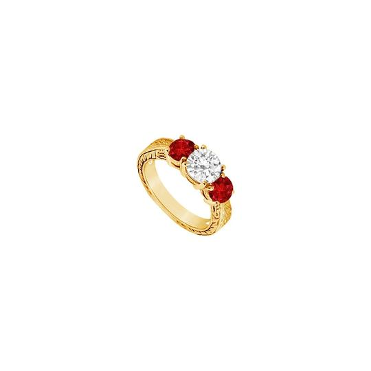 Preload https://img-static.tradesy.com/item/24327795/red-three-stone-created-ruby-and-cubic-zirconia-14k-yellow-gold-125-ring-0-0-540-540.jpg