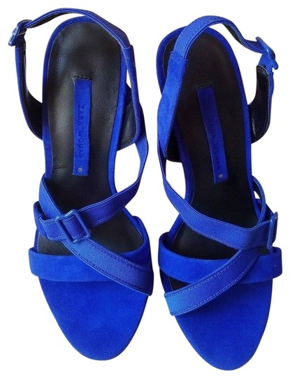Preload https://img-static.tradesy.com/item/24327835/zara-blue-new-cobalt-suede-leather-high-heel-sandals-size-us-6-narrow-aa-n-0-3-540-540.jpg