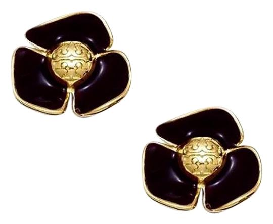 Preload https://img-static.tradesy.com/item/24327860/tory-burch-black-fleur-flower-earrings-0-3-540-540.jpg