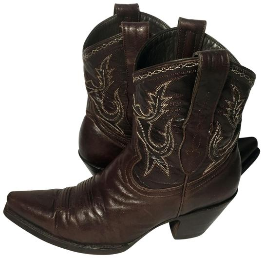 Preload https://img-static.tradesy.com/item/24327861/brown-leather-cowgirl-women-s-bootsbooties-size-us-65-regular-m-b-0-3-540-540.jpg
