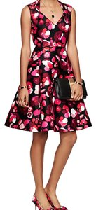 Kate Spade Floral Print Fit And Flare Party Dress