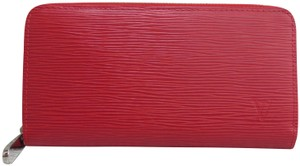 Louis Vuitton Louis Vuitton Red Epi Electric Zippy Wallet