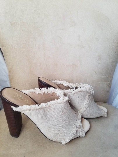 THE MODE COLLECTIVE Ivory, Brown Wedges