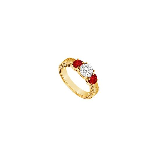 Preload https://img-static.tradesy.com/item/24327909/red-three-stone-created-ruby-and-cubic-zirconia-14k-yellow-gold-075-ring-0-0-540-540.jpg
