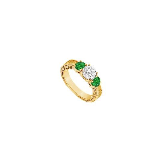 Preload https://img-static.tradesy.com/item/24327914/green-three-stone-created-emerald-and-cubic-zirconia-14k-yellow-gold-0-ring-0-0-540-540.jpg