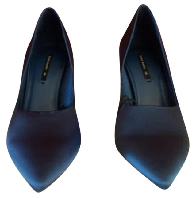 Item - Blue New Satin High Heel Court Pumps Formal Shoes Size US 6 Regular (M, B)
