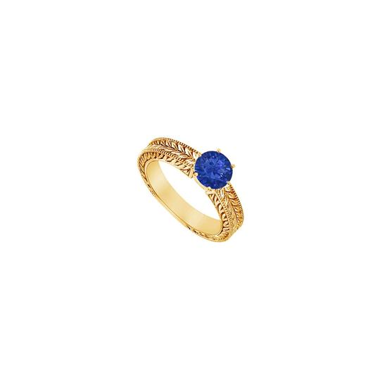 Preload https://img-static.tradesy.com/item/24327972/blue-created-sapphire-14k-yellow-gold-050-ct-tgw-ring-0-0-540-540.jpg