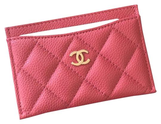 Preload https://img-static.tradesy.com/item/24328018/chanel-pink-classic-card-holder-wallet-0-5-540-540.jpg