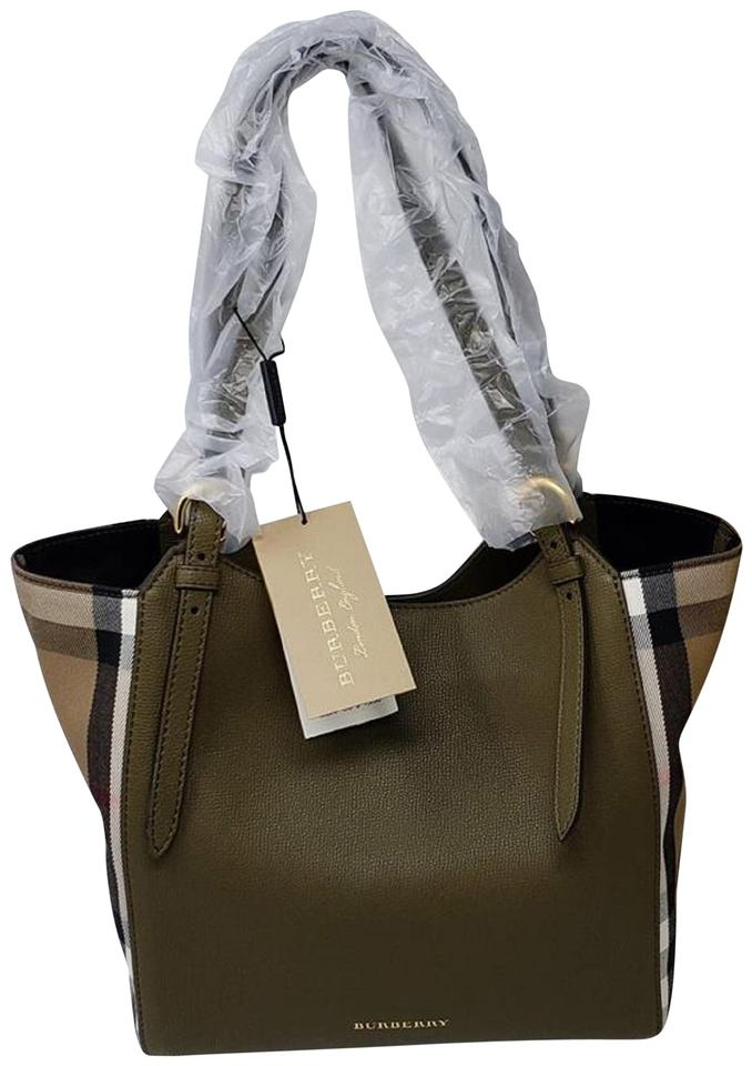 Burberry House Check Derby Leather Small Canterbury Leather Tote Brown  Shoulder Bag 5ac91e722a165