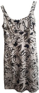 Covington short dress Black and White Floral Cocktail on Tradesy