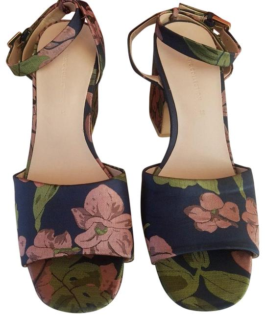 Item - Multicolor Embroidered Floral Heels Sandals Size US 7.5 Regular (M, B)