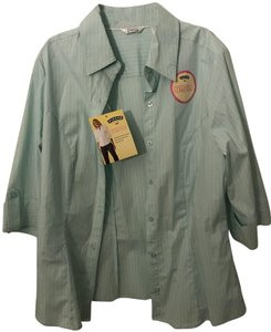 Riders by Lee Button Down Shirt Green