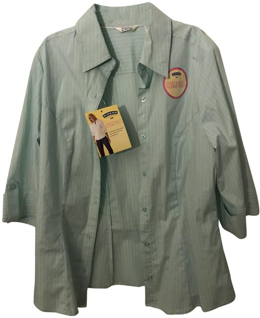 Item - Green Button-down Top Size 6 (S)
