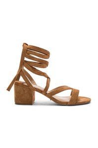 Tony Bianco Leather Camel Brown Sandals