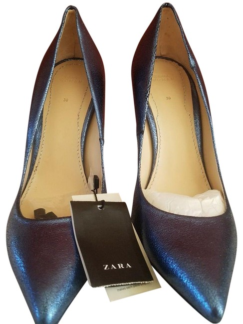 Item - Metallic Blue New Contrasting Tied Vacation - Wedges Size US 7.5 Narrow (Aa, N)