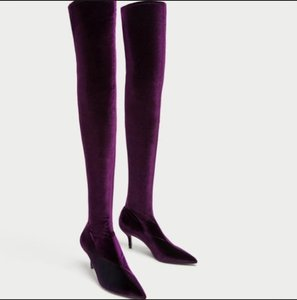 Zara PURPLE Boots