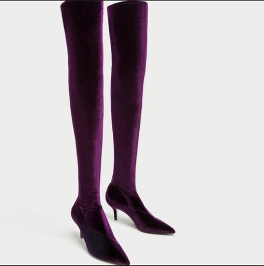 Preload https://img-static.tradesy.com/item/24328122/zara-purple-over-the-knee-high-heel-bootsbooties-size-us-6-narrow-aa-n-0-5-540-540.jpg