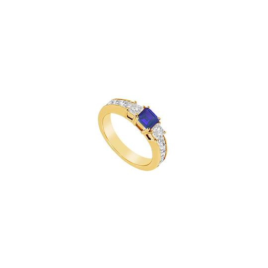 Preload https://img-static.tradesy.com/item/24328140/blue-created-sapphire-and-cubic-zirconia-14k-yellow-gold-100-ct-ring-0-0-540-540.jpg