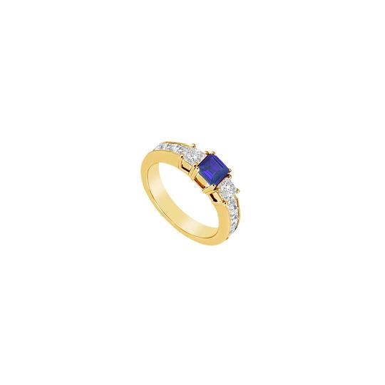Preload https://img-static.tradesy.com/item/24328179/blue-created-sapphire-and-cubic-zirconia-14k-yellow-gold-125-ct-ring-0-0-540-540.jpg