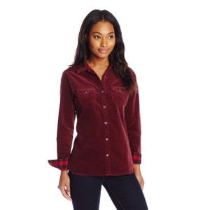 Woolrich Button Down Shirt Plum