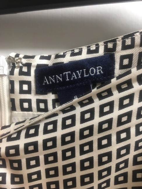 Ann Taylor Work Casual Travel Skirt White and Black