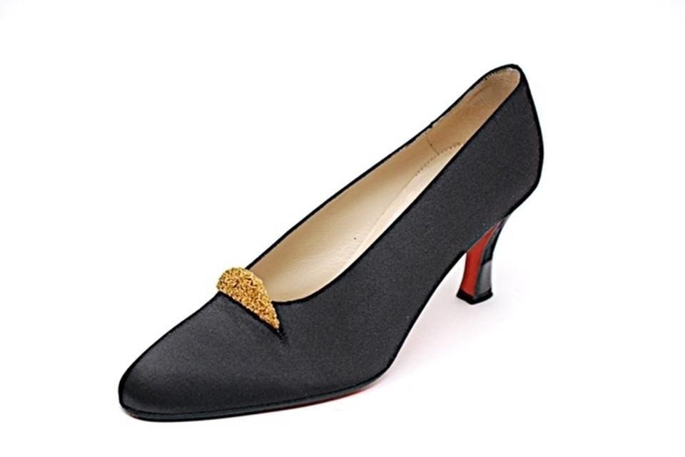 dc3b11e1d71 Christian Louboutin Black Made In Italy Satin Satin Evening Pumps From Of  Paris Have Wonderful Shape - Satin Fabric Formal Shoes Size US 6 Regular  (M, ...