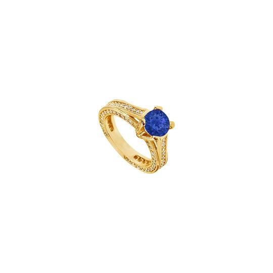 Preload https://img-static.tradesy.com/item/24328265/blue-created-sapphire-and-cubic-zirconia-engagement-14k-yellow-gold-2-ring-0-0-540-540.jpg