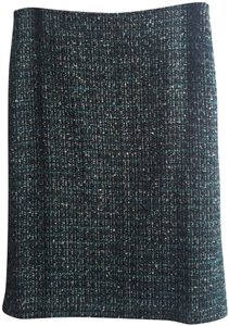 Talbots Twill Pencil Skirt Teal, Black and White