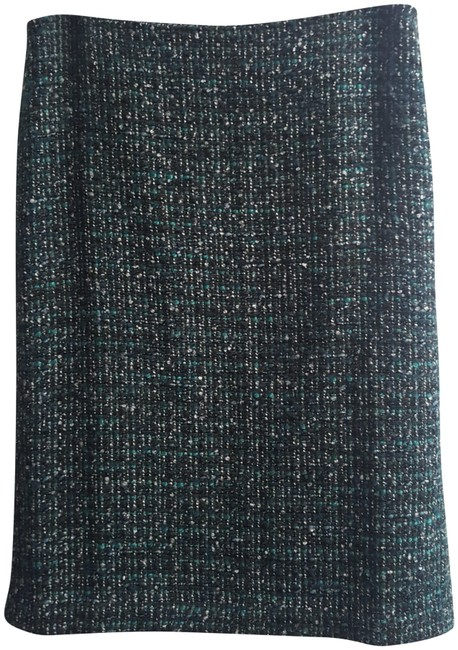 Preload https://img-static.tradesy.com/item/24328278/talbots-teal-black-and-white-twill-pencil-skirt-size-4-s-27-0-3-650-650.jpg