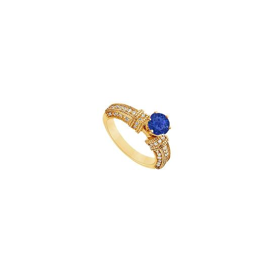 Preload https://img-static.tradesy.com/item/24328282/blue-created-sapphire-and-cubic-zirconia-engagement-14k-yellow-gold-1-ring-0-0-540-540.jpg