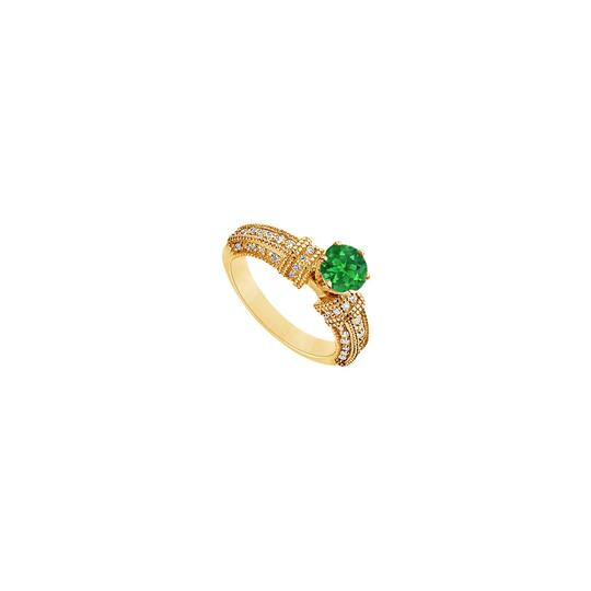 Preload https://img-static.tradesy.com/item/24328287/green-created-emerald-and-cubic-zirconia-engagement-14k-yellow-gold-10-ring-0-0-540-540.jpg