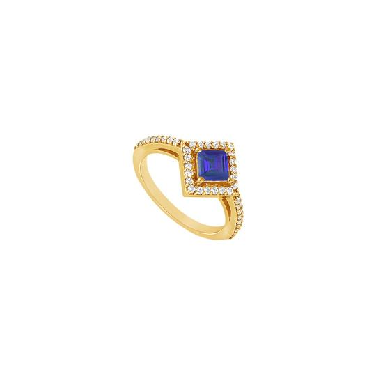Preload https://img-static.tradesy.com/item/24328292/blue-created-sapphire-and-cubic-zirconia-engagement-14k-yellow-gold-1-ring-0-0-540-540.jpg