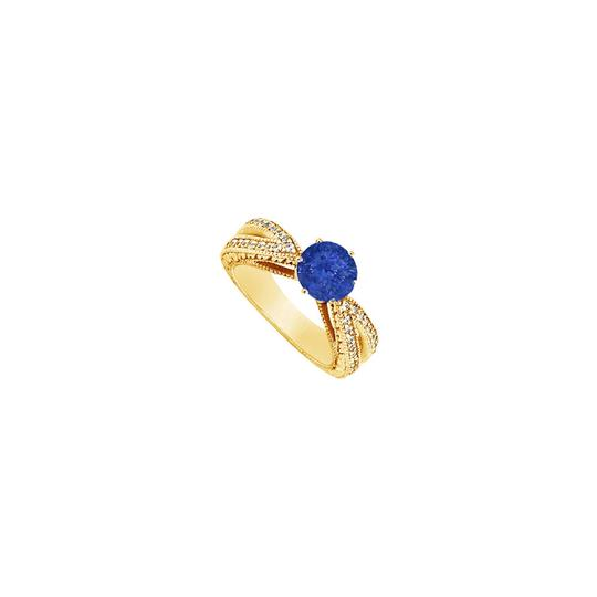 Preload https://img-static.tradesy.com/item/24328308/blue-created-sapphire-and-cubic-zirconia-engagement-14k-yellow-gold-1-ring-0-0-540-540.jpg