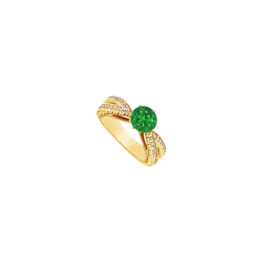 Preload https://img-static.tradesy.com/item/24328326/green-created-emerald-and-cubic-zirconia-engagement-14k-yellow-gold-15-ring-0-0-540-540.jpg