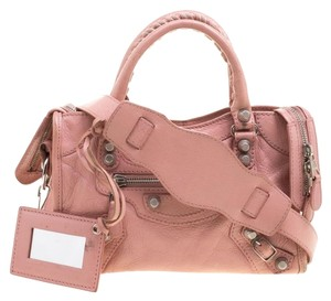 Balenciaga Silhouette Studs Buckle Tote in Pink