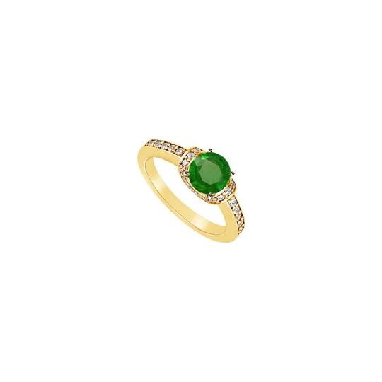 Preload https://img-static.tradesy.com/item/24328344/green-created-emerald-and-cubic-zirconia-engagement-14k-yellow-gold-12-ring-0-0-540-540.jpg