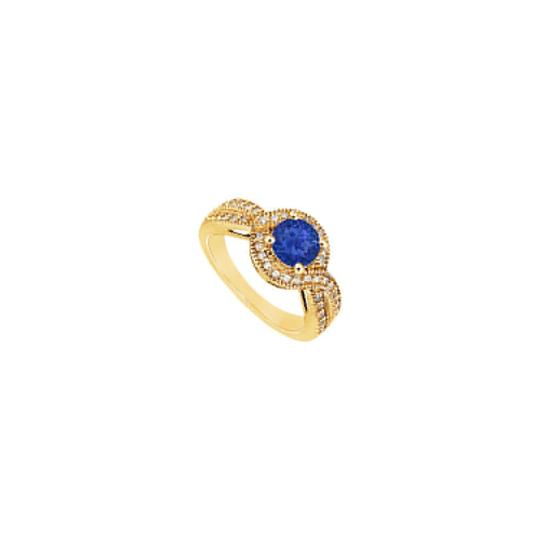 Preload https://img-static.tradesy.com/item/24328347/blue-created-sapphire-and-cubic-zirconia-engagement-14k-yellow-gold-1-ring-0-0-540-540.jpg
